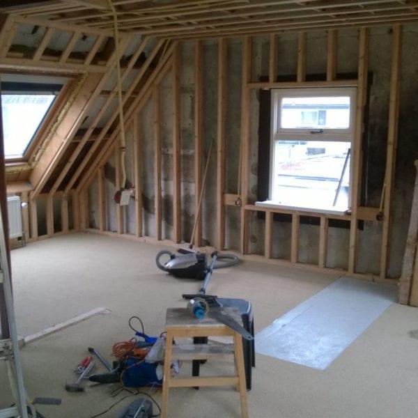 Verbouwingen aan de zolder